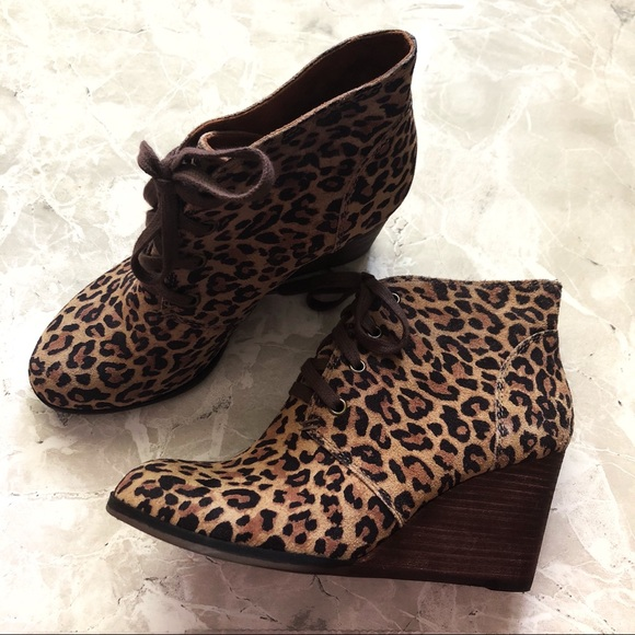 c8b21f0020fb Lucky Brand Shoes | Animal Print Wedges | Poshmark